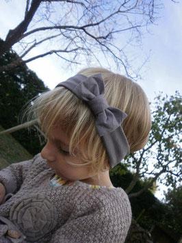 bandeau noeud bébé enfant fille taupe / taille naissance disponible