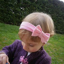 bandeau noeud bébé enfant fille rose clair / taille naissance disponible