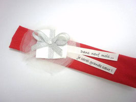 Bandeau bébé cadeau de noël avec message personnalisé