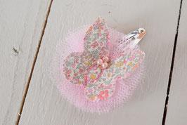 Barrette papillon liberty Katie & millie pastel rose