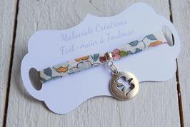 Bracelet liberty Betsy médaillon colombe pour baptême, communion, confirmation