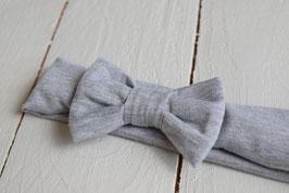 bandeau noeud bébé enfant fille gris chiné / taille naissance disponible