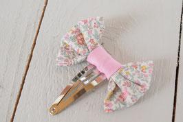 Barrette noeud liberty Katie & millie pastel rose