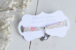 Bracelet colombe liberty Katie and millie pastel  pour baptême, communion, confirmation
