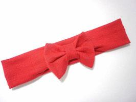 bandeau noeud bébé enfant fille rouge / taille naissance disponible