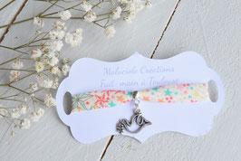 Bracelet liberty adelajda colombe argenté pour baptême, communion, confirmation