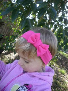 bandeau noeud bébé enfant fille rose fuchsia/ taille naissance disponible