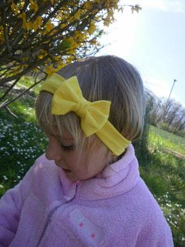 bandeau noeud bébé enfant fille jaune / taille naissance disponible