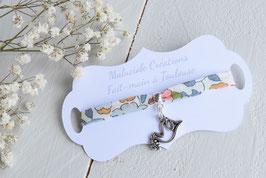 Bracelet liberty Betsy colombe pour baptême, communion, confirmation