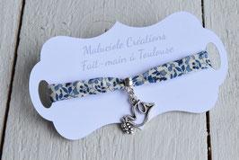 Bracelet liberty Katie and millie bleu colombe argenté pour baptême, communion, confirmation