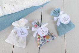 Commande Sandrine C. / 30 sachets tissus pour dragées