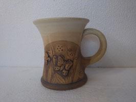 Tazza H. cm. 9,5, diametro cm. 9 (circa)