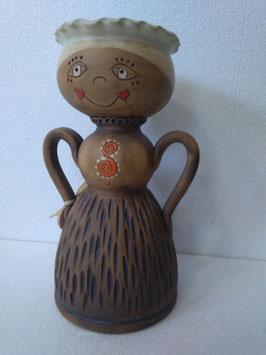Portavaso/portafruttasecca/portacaramelle bambola misura media H. cm. 23,5 diametro cm. 12,5 (circa)