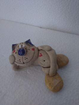 Cagnolino mini H. cm. 3, L. cm. 7,5, P. cm. 5 (circa)