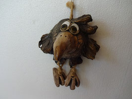 Uccello H. 15 cm., L 14 cm., P 11 cm. (con becco)