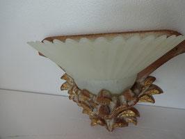 Applique carrè in cotto con vetro art. 130