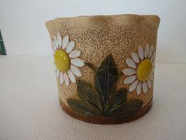 Vaso rotondo margherite H 12,5 cm., diametro 15,5 cm. (circa)