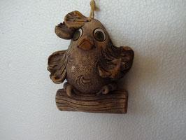 Uccellino sul ramo H 10 cm., L 8 cm., P 3 cm. (circa)