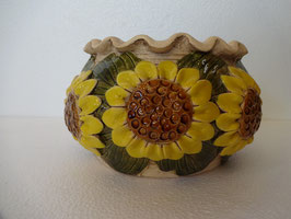Vaso girasole H cm. 12, diametro superiore cm. 16 (circa)