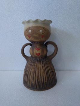 Portavaso/portafruttasecca/portacaramelle bambola misura mini H. cm. 20 diametro cm. 12 (circa)