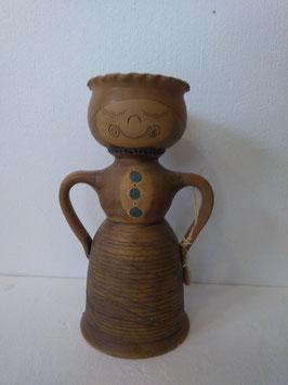 Portavaso/portafruttasecca/portacaramelle bambola misura maxi H. cm. 32 diametro cm. 15,5 (circa)