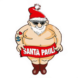 """Santa Pauli - T-Shirt / Girlie Shirt schwarz """"Santa"""""""