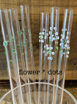 GlasTrinkRöhrli flower * dots