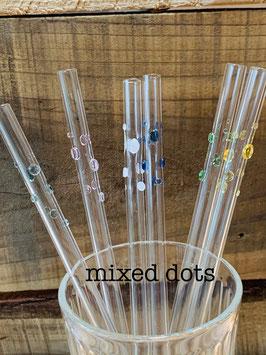 GlasTrinkRöhrli mixed dots