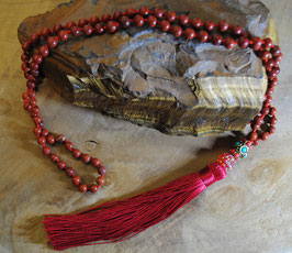 Collier Mala Jaspe rouge
