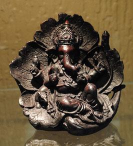 Statuette Ganesh sur feuille antique
