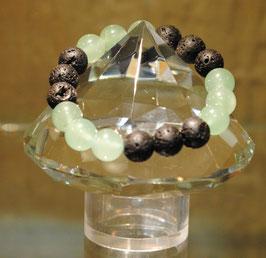 Bracelet pierres de lave & aventurine