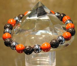 Bracelet jaspe rouge - térahertz - lave