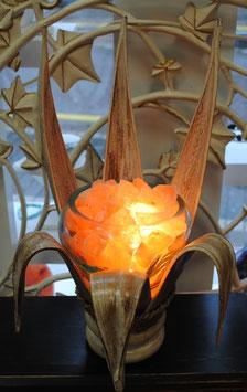 "Lampe de sel ""Nénuphar"""