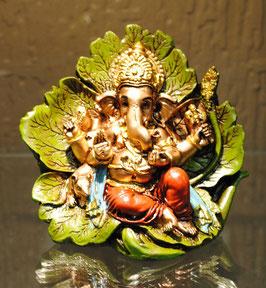 Statuette Ganesh sur feuille