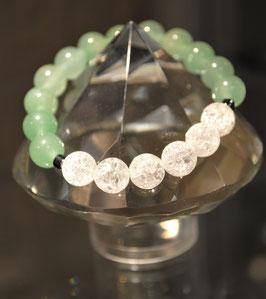 Bracelet Aventurine verte et cristal de roche