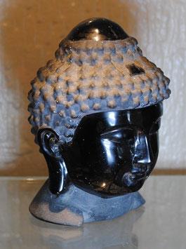 Tête de Bouddha Obsidienne noire