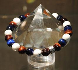Bracelet Tigre bleu - Howlite - Taureau