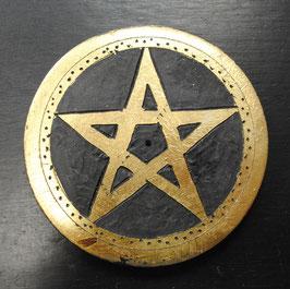 Porte encens pentagramme