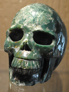 Crâne en Agate mousse