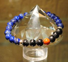 Bracelet Lapis lazuli - Mantras - Jaspe rouge