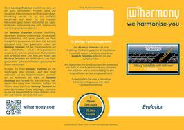 """Produktflyer """"harmony Evolution"""""""