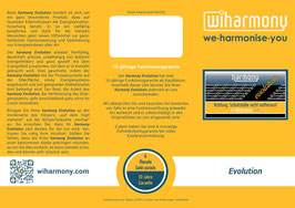 "Produktflyer ""harmony Evolution"""