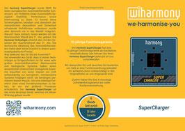 "Produktflyer ""harmony SuperCharger"""