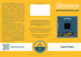 "Produktflyer ""harmony SuperCharger"""
