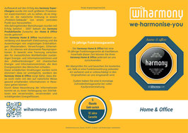 "Produktflyer ""harmony Home & Office"""