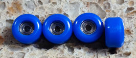 Pro-grade CNC Fingerboard Wheels, Electric Blue
