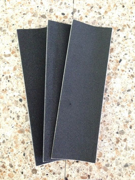 Uncut black grip tape, 3 piece
