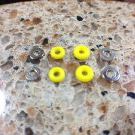 Silicone Rubber Bushings & Nickel Plated Washers, Yellow