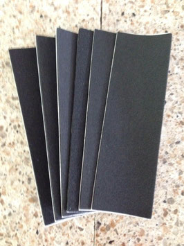 Uncut black grip tape, 6 piece