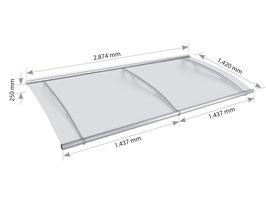 Modulares Vordach XL - Basismodul